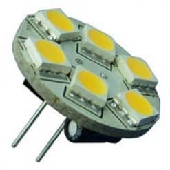 6 LED Rear Pin G4 Warm White - Image