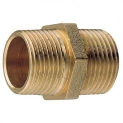 Aquafax Brass Equal Hex Nipples BSP/T - Image