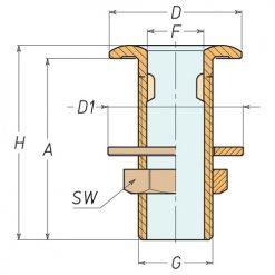 Aquafax Brass Skin Fittings BSP - Image