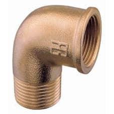 """Aquafax Bronze Mf Elbow 1 1/2 """" BSP - Image"""