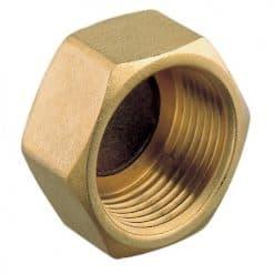 Aquafax Hex Female Caps Brass BSP - Image