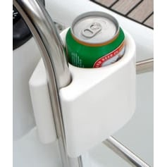 Clip-On Cup Holder - Clip On Item Holder White