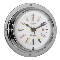 Clipper Clock Chrome Signal Flag Design - Image