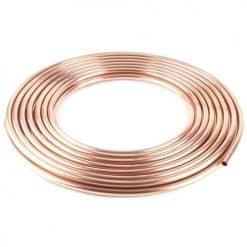 """Copper Tubing 20G 1/4"""" Od - COPPER TUBING 20G 1/4"""" OD 10M"""