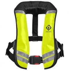 Crewsaver Crewfit 150N XD Commercial Lifejacket Workvest - Wipe Clean Yellow