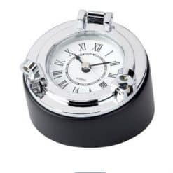 Desk Clock Paperweight Chrome - DESK CLOCK PAPERWEIGHT CHROME