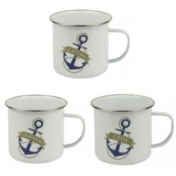 Enamelled Tin Nautical Mugs - Image