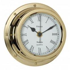 Fitzroy Brass Clock Roman Numerals - Image