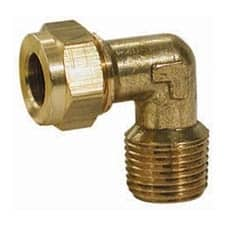 """Gas Male Elbow Coupling 5/16"""" x 3/8"""" - GAS MALE ELB CPL 5/16"""" X 3/8"""""""