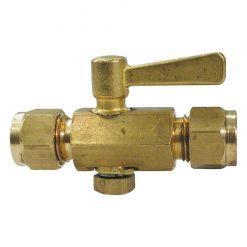"Gas Plug Cock Brass 5/16"" x 5/16"" - GAS PLUG COCK BRS 5/16X5/16"""