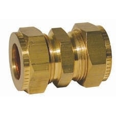"""Gas Straight Coupling 1/2"""" x 3/8"""" - GAS STRAIGHT COUP 1/2X3/8"""""""