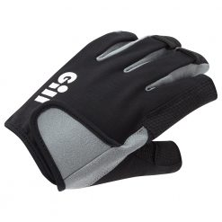 Gill Deckhand Gloves Short Finger 2021 - Black