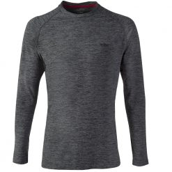 Gill Long Sleeve Crew Neck Base Layer - Ash Melange