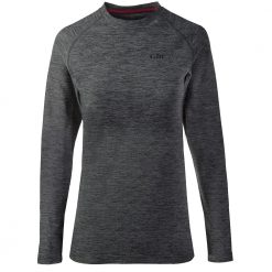 Gill Long Sleeve Crew Neck Base Layer for Women - Ash Melange