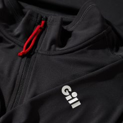 Gill UV Tec Long sleeve Zip T-Shirt - Charcoal