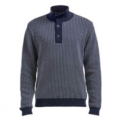 Holebrook Anders T-Neck WP Windproof Sweater - Navy/Off White