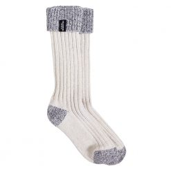 Holebrook Brommo Knitted Socks - Offwhite/Light Grey