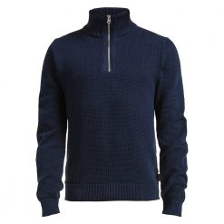 Holebrook Henry T-Neck Jumper - Navy
