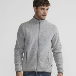 Holebrook Nisse Full Zip Sweater - Grey