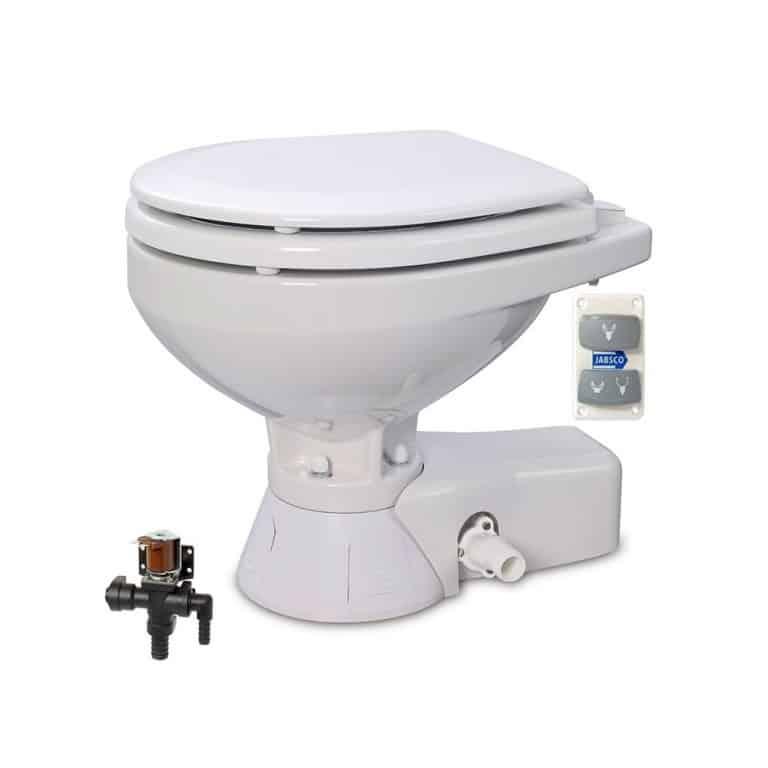 Jabsco Quiet Flush Seawater Toilet - Compact