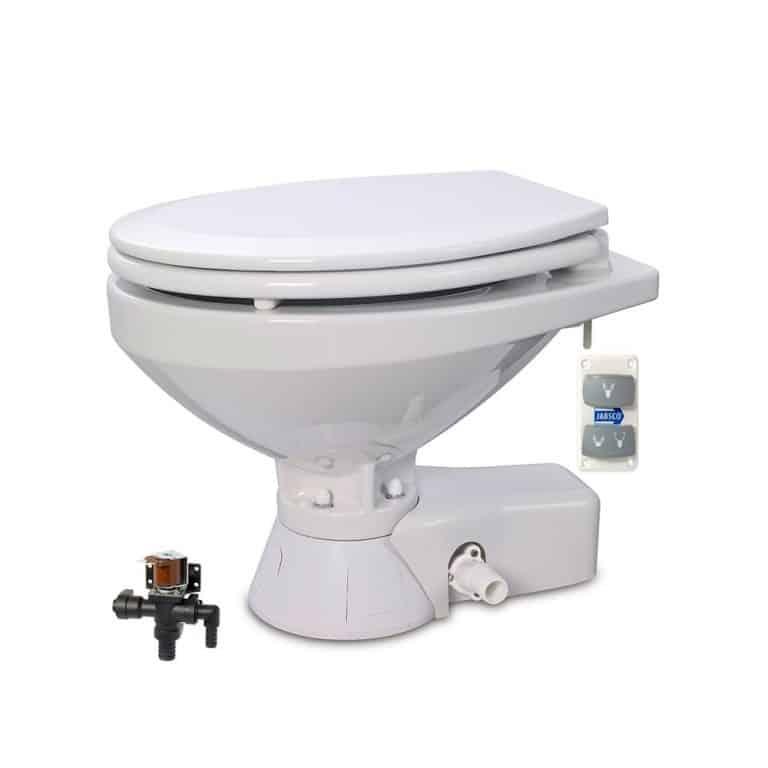 Jabsco Quiet Flush Seawater Toilet - Regular