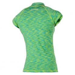 Magic Marine Womens Cube Short Sleeve Rashvest - Green Melee