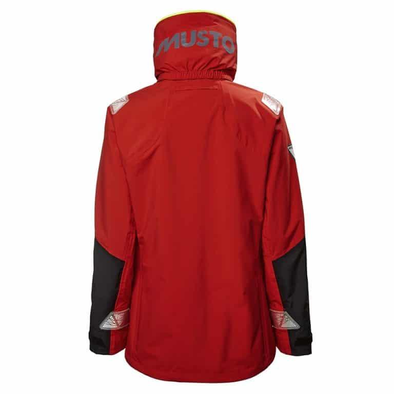 Musto BR2 Coastal Jacket For Women - True Red/Black