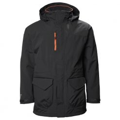 Musto Corsica BR1 Long Jacket - Black/Fire Orange