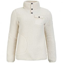 Pelle Womens Sherpa Sweater - Cream White