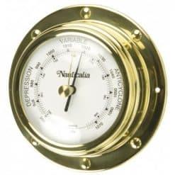 Rivet Style Brass Barometer, 98mm - Image