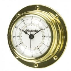 Rivet Style Brass Clock 98mm - Image
