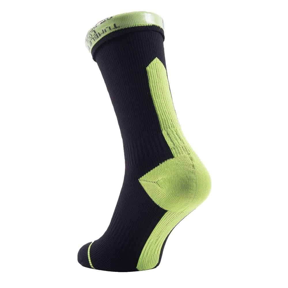 Waterproof Socks Black Anthracite SealSkinz Road Thin Mid Hydrostop