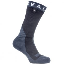Sealskinz Trekking Thick Mid Length Sock - Black/Anthracite