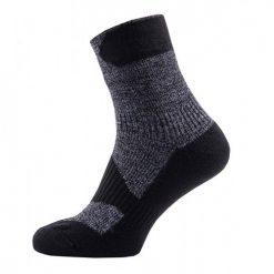 Sealskinz Walking Thin Ankle Sock - Dark Grey/Black