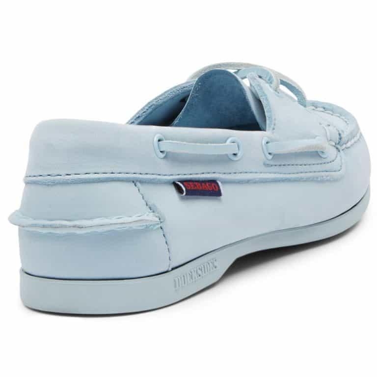 Sebago Jacqueline Ladies Deck Shoes - Full Baby Blue