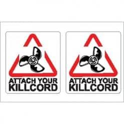 Nauticalia Boat Stickers - Attach Kill Cord (S)