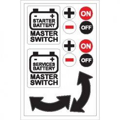Nauticalia Boat Stickers - Battery Master Switch (L)