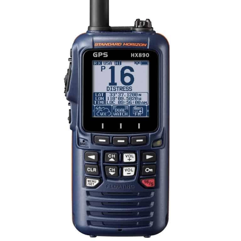 Standard Horizon HX890E DSC Handheld VHF Radio - Navy