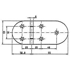 Talamax Stainless Steel Hinge 145.8 x 65mm - Image