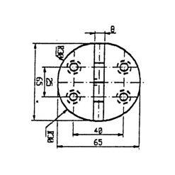 Talamex Stainless Steel Hinge 65mm Diameter - Image