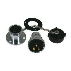Trem Chrome 3 Pin Plug & Socket - Image