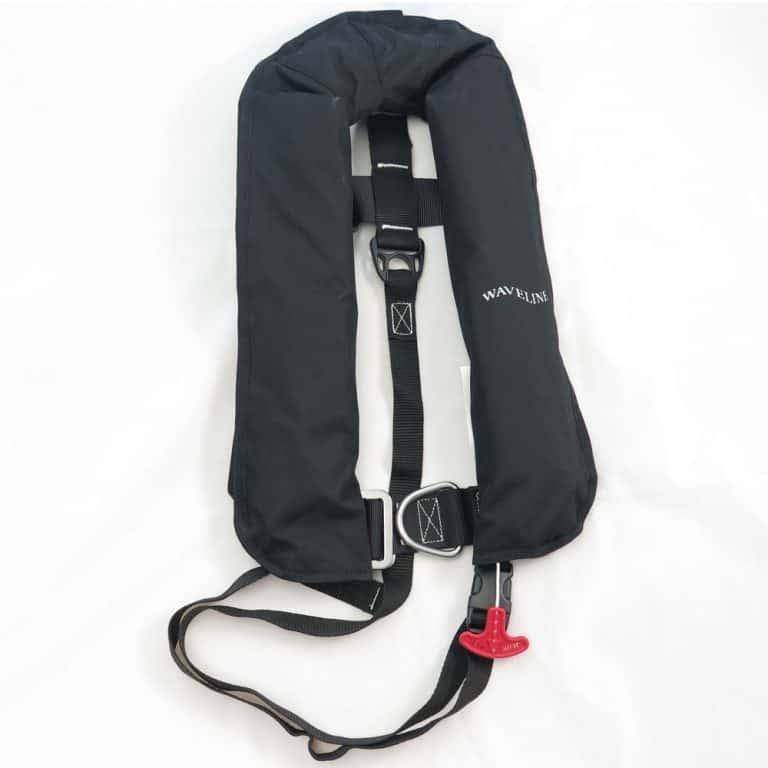 Waveline 165N ISO Lifejacket - Black With Harness