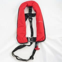 Waveline 165N ISO Lifejacket - Red With Harness
