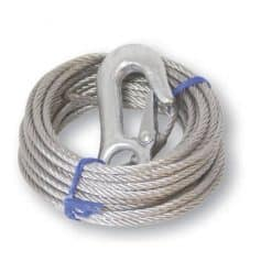 Winch Cable with Hook Max 1700kgs - WINCH CABLE WITH HOOK 6M