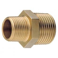 """Aquafax Brass Unequal Nipple 1 1/4"""" - 1"""" BSP Taper - Image"""