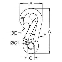 Carbine Kong Hook with Eye - Image