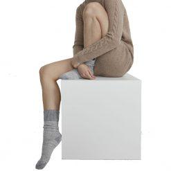 Holebrook Malo Sock - Grey Mel/Off White