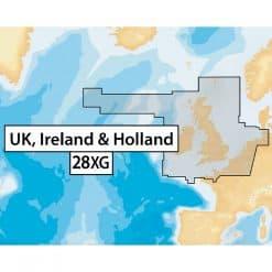 Navionics + 28XG - UK, Ireland and Holland SD Card Format - Image
