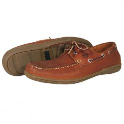 Ocra Bay Hamble Deck Shoe - Havana